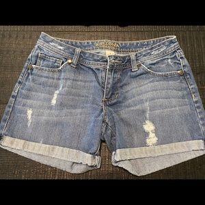 Women's Arizona distressed denim shorts size 7